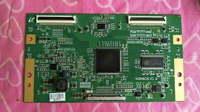 """1 PC Used Tested 40"""" SONY  KLV-40V440A  400HAC2LV3.0  LTY400HA10  Board #1476 YT"""