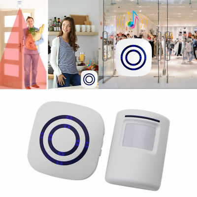 Wireless Motion Sensor Detector Gate Entry Door Bell Home Security Alert Alarm
