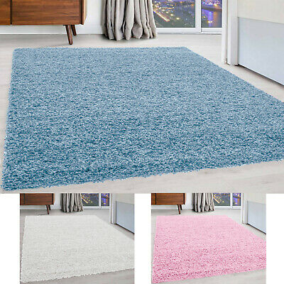 Soft Plain Thick 5Cm Bedroom Shaggy Rug Floor Carpet Non Shed Rugs Modern New