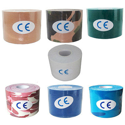 1 Roll 5M Kinesiology Sports Muscles Care Elastic Therapeutic Tape New