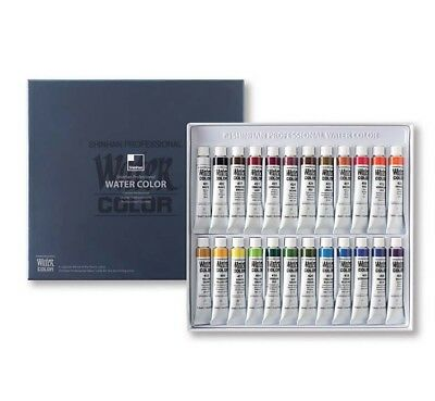 Shinhan Professional Watercolor Paint Set 24 Colors 7.5ml Drawing Tube Artist
