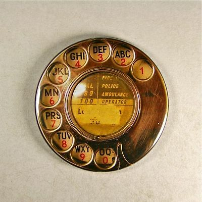 """Vintage Style Telephone Dial Fridge Magnet 2 1/4"""" Rotary Dial"""