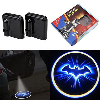2pcs LED Car Door Welcome Laser Batman Pattern Courtesy Ghost Shadow Light