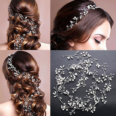 New Pearls Wedding Hair Vine Crystal Bridal Accessories Rhinestone Headband Best
