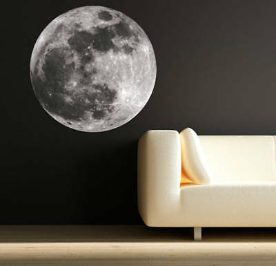 Moon Wall Art Sticker Decals Moon Science Astronomy Space Universe Mural WSD53