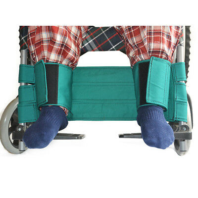 Green Adjustable Disabled Wheelchair Safety Leg Fixed Strap Seat Belt