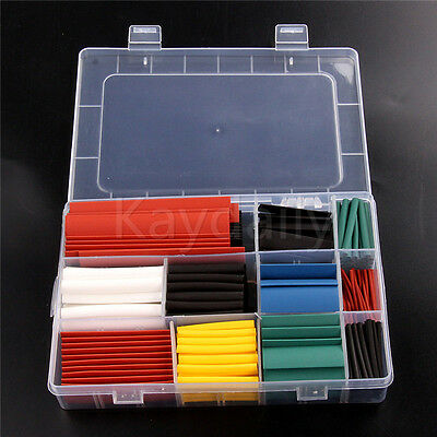 300PCS Assortment Heat Shrink Sleeve Electrical Cable Tube Tubing Wrap Wire Kit