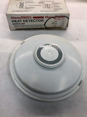SIMPLEX FIRE ALARM HEAT DETECTOR 602 SERIES 602-622 NOS Rate of Rise 200 DEG.