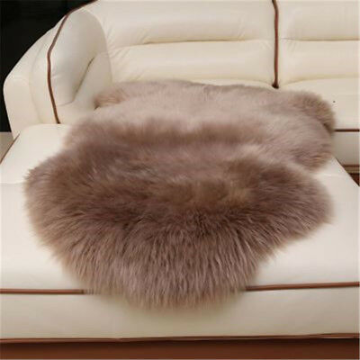 Farm real Single One Pelt Sheepskin Lambskin Wool fur Rug Hides bean sand color