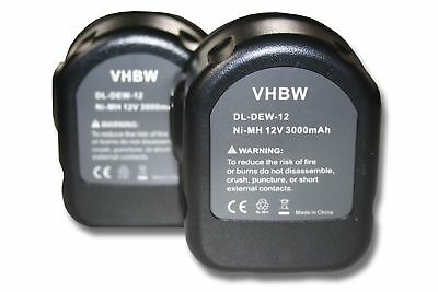 vhbw 2x Akku für Roller Multi-Press Mini ACC - NiMH 3000mAh 12V