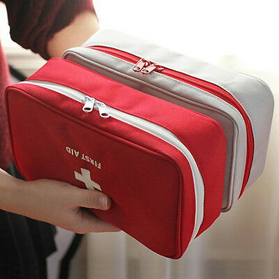 Empty First Aid Kit Pouch Home Office Medical Emergency Travel Case Bag