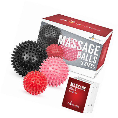 Spiky Massage Balls Deep Tissue Trigger Point Roller Set for Muscle Recovery, Re