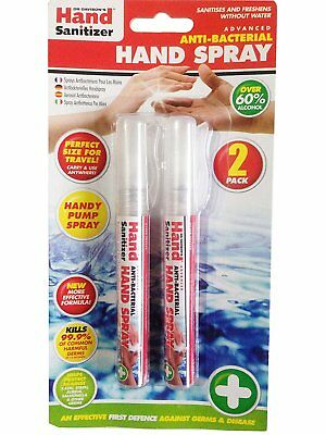2 Pack Anti-Bacterial Hand Spray Hand Sanitizer Travel Hand Spray Pump