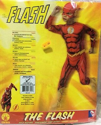 Carnevale Halloween Marvel Flash Costume Completo Originale 4/6 Anni