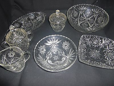Vintage/Antique Clear Glass Anchor Hocking Collection - 7 Items