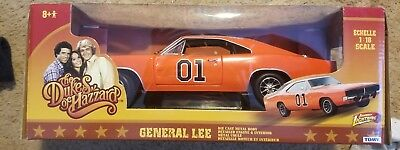 Dukes of Hazzard General Lee 69 Dodge Charger 01 Orange Tomy 32485 1/18 Diecast