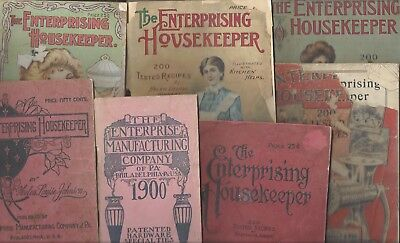 1900 - 1913 Collection of Enterprise Manufacturing Company Catalogs & Cookbooks