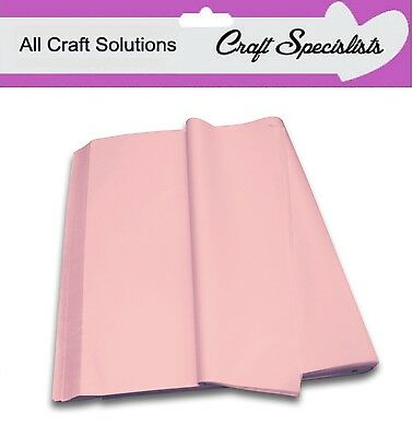 PALE PINK ACID FREE LUXURY QUALITY TISSUE PAPER 750mm x 500mm SHEETS 18 GSM