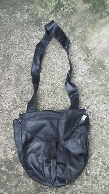 American Civil War meecham type haversack black oiled leather repro US INFANTRY