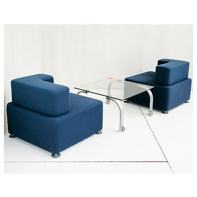 """2x STEELCASE  """"B-FREE"""" - Loungesessel Sessel Empfangsmobiliar Loungesofa"""
