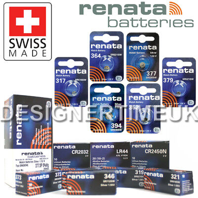 Renata Swiss Made Coin Cell Watch Calculator Car Key Fob Batteries All Sizes