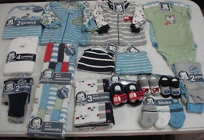 Gerber Baby Boys 52 Piece Gift Set NEW Shower Gift Adorable