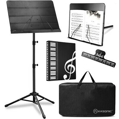 Portable Music Stand Collapsible LED light Paper Holder for Music Sheet Books