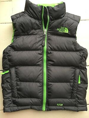 Pre-owned Boys The North Face 550 Down Vest Size S (7/8).