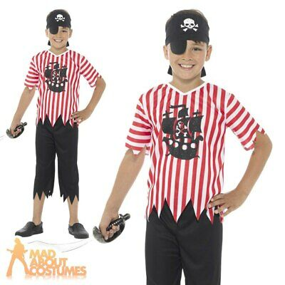 Child Jolly Pirate Boy Costume Boys Book Week Day Fancy Dress Outfit Kids
