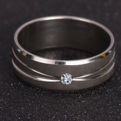 Silver Ring With Micro Paved AAA CZ High Polished White Gold Color Ring WOMEN