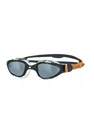 Zoggs Adults Aqua-Flex Swim Goggles Black/Orange 180 Degree Vision