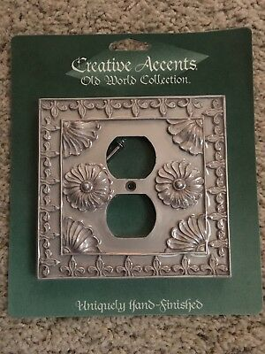 Decorative Rustic Finish Electric Outlet Plate Cover by Creative Accents