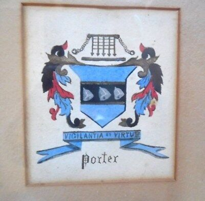 PORTER Coat of Arms by Jessie Porter Wood 1896 Danvers MA Library of Congress