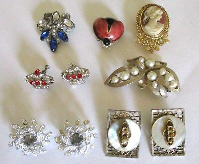 Mixed Lot of Vintage to Antique Jewelry.  Wear/Repair/Parts.