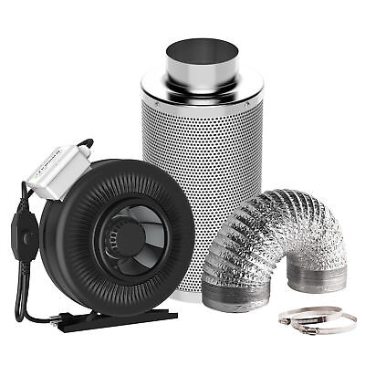 "VIVOSUN 4"" inch Inline Fan w/ Speed Controller & Carbon Filter & 4"" Air Ducting"