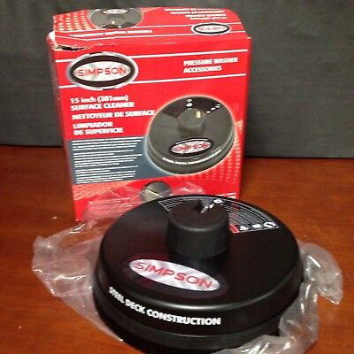 """Simpson 80166 15"""" 3,600 PSI Surface Cleaner with Quick Connect Plug"""