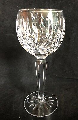 "Vintage Waterford Crystal Lismore 7 3/8"" Hock Wine Glass Gothic Mark"