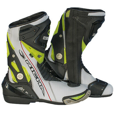 Richa Blade Boots - Waterproof Black / White / Fluo Motorcycle boots