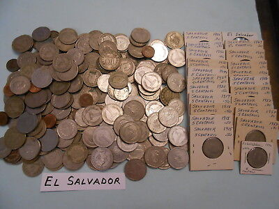 World Coin Lot:  257 Foreign Coins from El Salvador