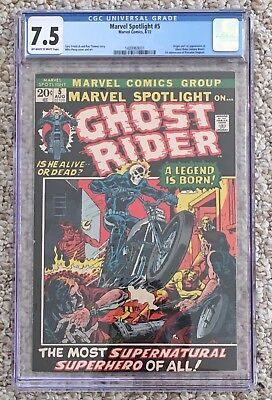 MARVEL SPOTLIGHT 5 CGC 7.5 OW/W Pages MARVEL KEY 1st Appearance GHOST RIDER