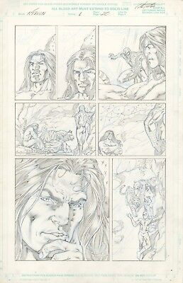 Kraven prelim, Original Comic Art, w. Spider-Man, by Al Rio, published by Marvel