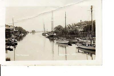 Boats in the Harbour  OAKVILLE  Ontario Canada RPPC
