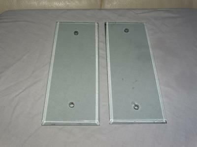 Matching Pair Of Vintage Clear Glass Door Push Finger Plates Beveled Edge,