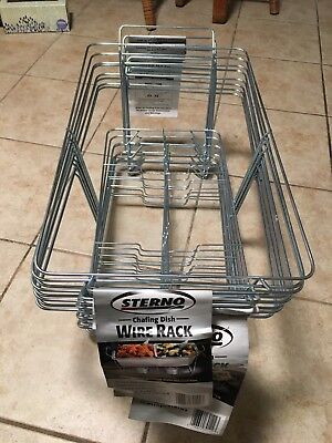 "8 Sterno Candle Lamp Wire Chafing Dish Rack 22.5"" L x 12.5"" W x 9.5"" H"