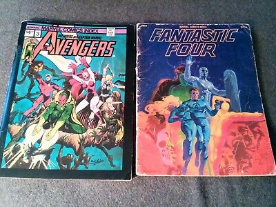 Old Marvel Comics Index Lot Of 2. Avengers Defenders Fantastic Four 1970's