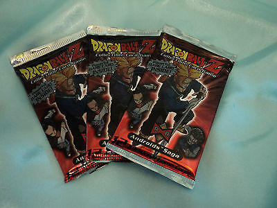 3x  DBZ Dragonball Z CCG/TCG  Androids Saga 12 card sealed booster pack