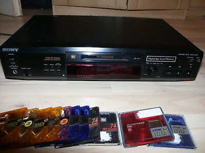 Sony MDS-JE520 Minidisc Recorder, Minidisk MD Player mit 11 MD´s guter Zustand