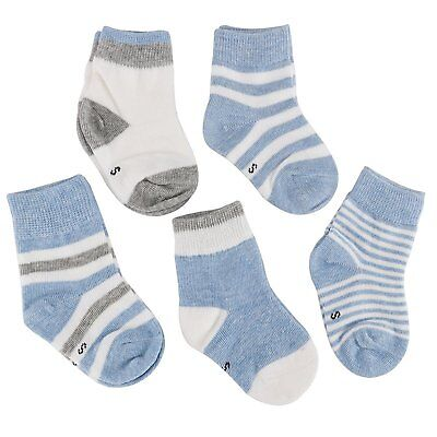 Looching 5 Pairs Unisex Baby Organic Cotton Ankle Socks for Newborn Toddler Baby
