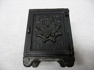 Patent March 1 1887 Cast Iron Security Safe Deposit Coin Bank