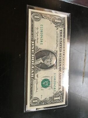 1977 $1 One Dollar Bill Full Offset Print Error Note Currency Paper Money
